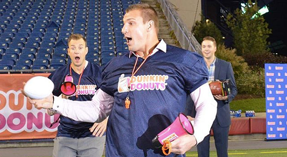 Gronk Teams Up With Dunkin' to Teach the 'Art of the Spike' During Bye Week