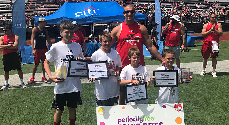 Gronk Coaches Future Patriots Players at His Youth Football Clinic - and Teaches Them New Dance Moves! | Gronk Nation