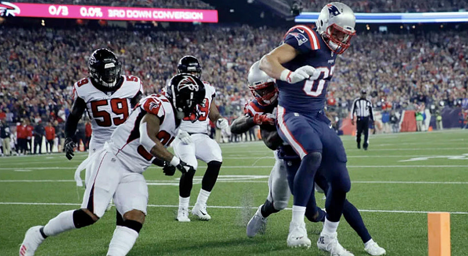 Gronk Throws the Falcons Defense Outta the Club, Drags Cooks Into the End Zone