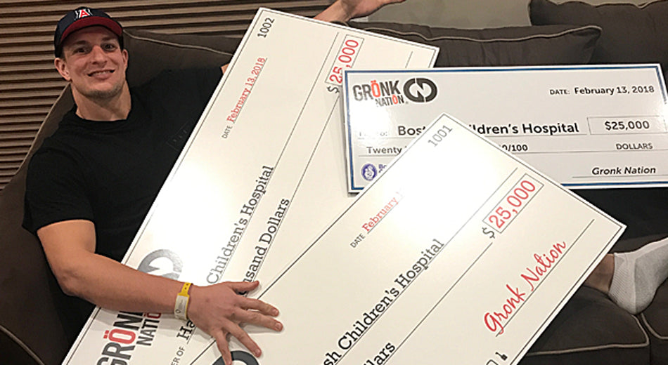 Gronk Hits the Hospital Trifecta by Donating 3 Charity Checks in One Day
