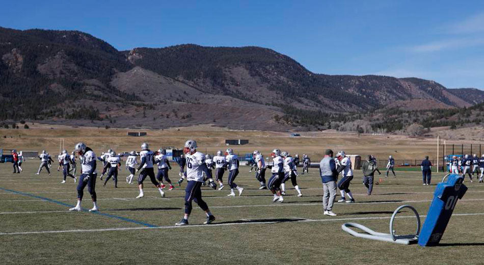 Patriots Practice at Air Force Academy to Prep for Mexico City Altitude | Gronk Nation
