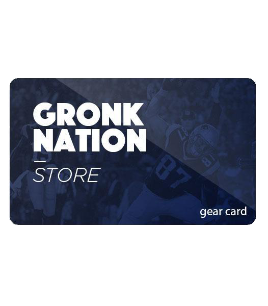 Gronk Nation Gear Card