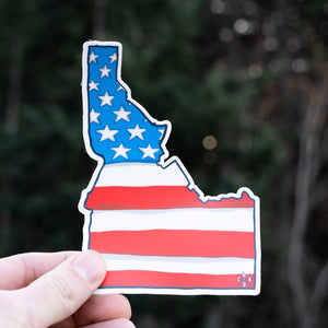 2018 Idaho US Flag Sticker