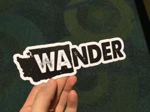 Wander Washington Sticker - White BG