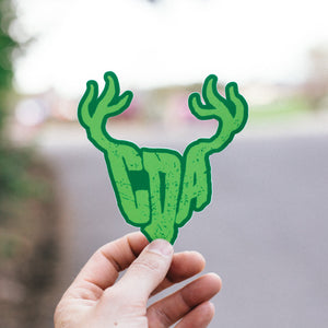 Green CDA Antler Sticker