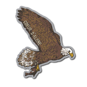 Flying Coeur d'Alene Eagle Sticker