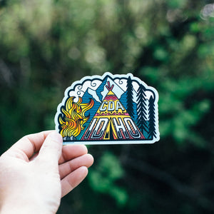 CDA Idaho Teepee Sticker