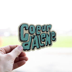Coeur d'Alene Blue and Tan Sticker