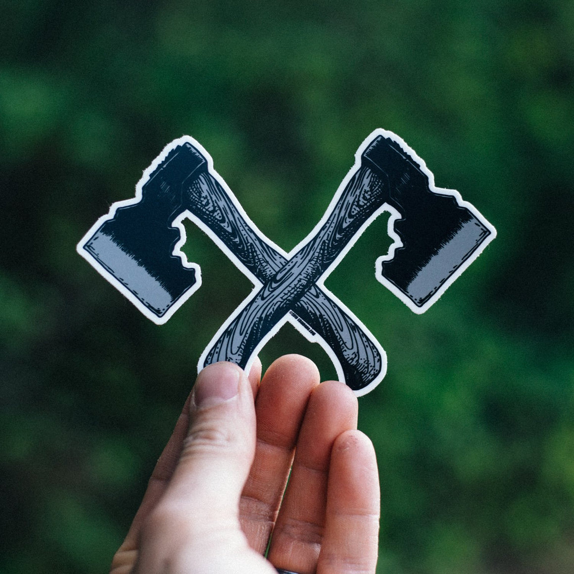 Dual Hatchet Sticker