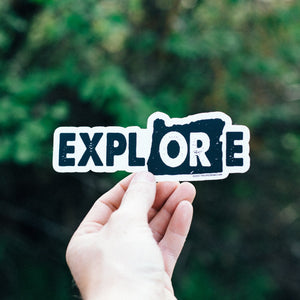 Explore Oregon Sticker - White Background