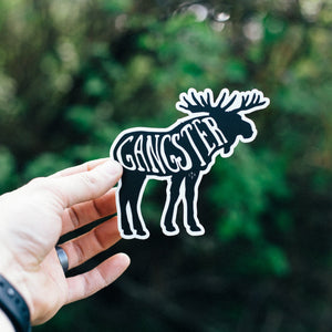 Gangster Moose Sticker