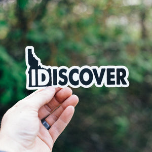 Idiscover Idaho Sticker - White Background