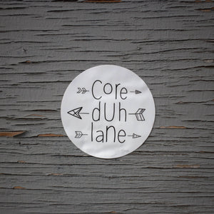 Core Duh Lane Sticker