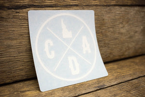 CDA IDAHO LOGO Decal