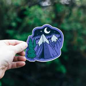 Mountain Tent Sticker