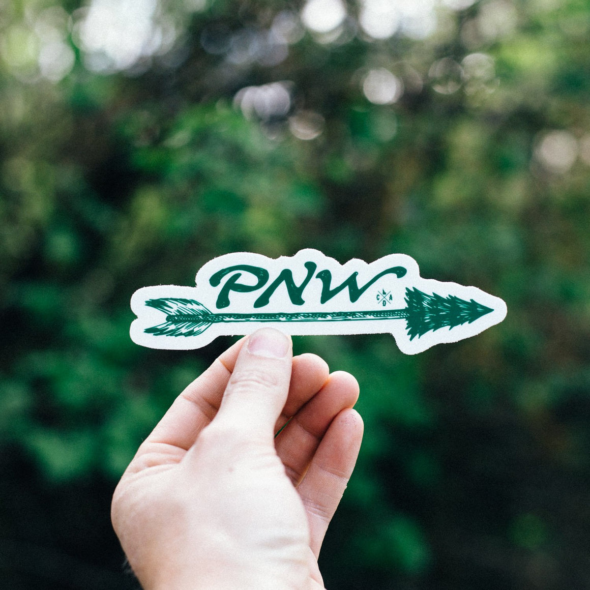 Green PNW Arrow Sticker