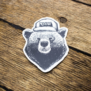 PNW Hat Bear Sticker