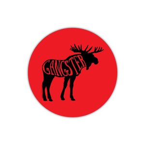 Red Gangster Moose Sticker