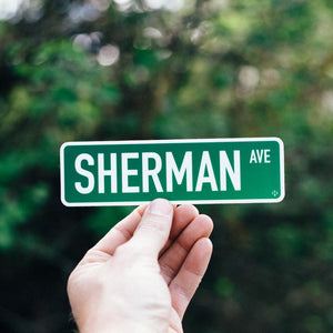 Sherman Avenue Sticker