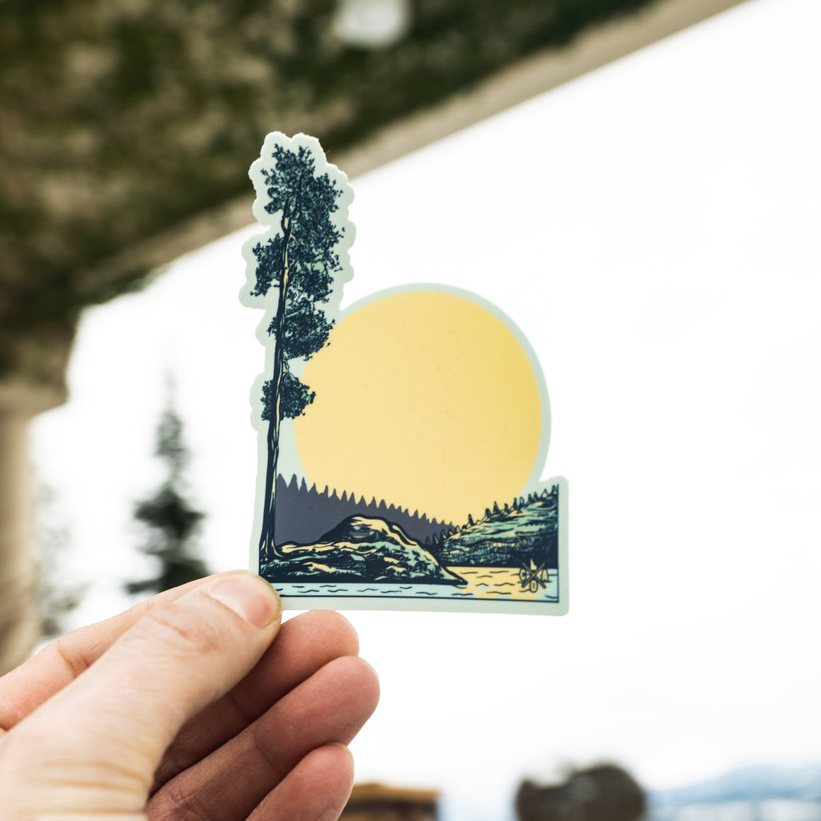 Tubbs Hill Tree Sticker #2
