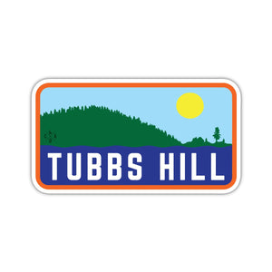 Tubbs Hill Silhouette Sticker