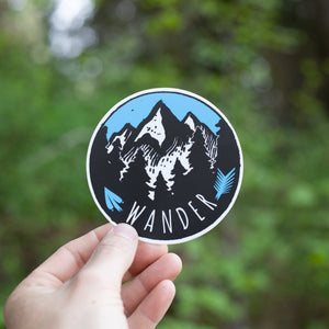 Wander Circle Sticker
