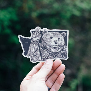 Bear Wave Sticker