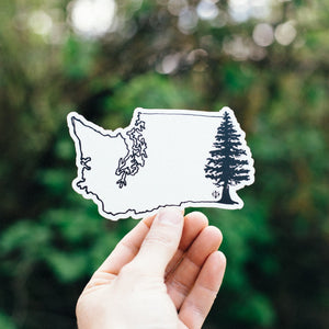 Washington Tree Sticker