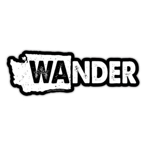 Wander Washington Sticker - Black BG
