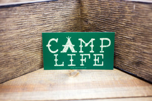 Camp Life Sticker