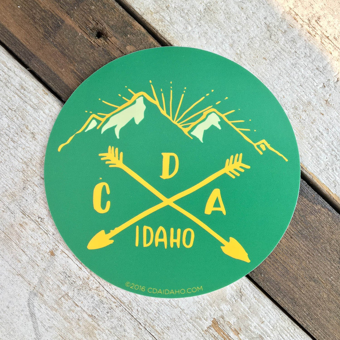 Camping Logo Sticker