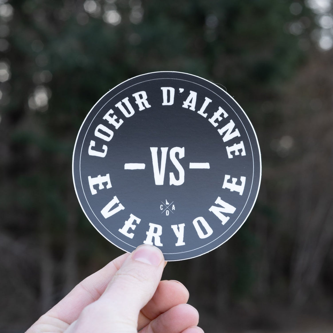 Coeur d'Alene VS Everyone Sticker