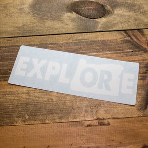 Explore Oregon Decal with Transfer Tape