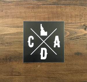 Bold CDA Idaho Logo Square Sticker