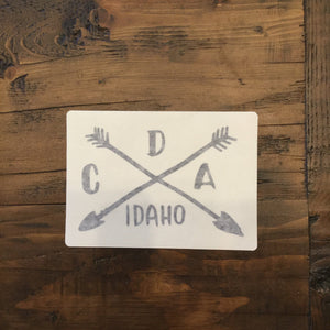 CDA Camping Logo Black Decal