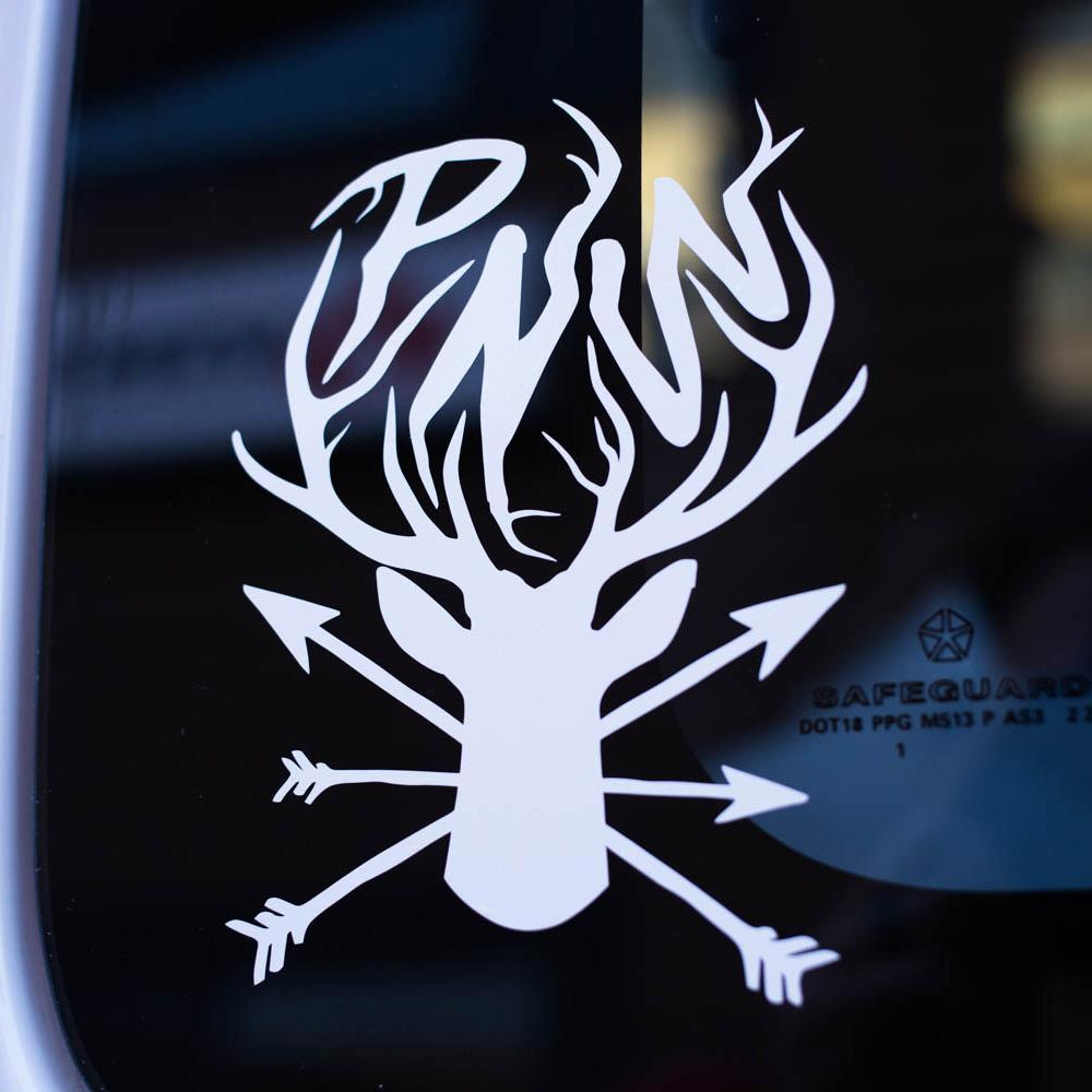 PNW Deer & Arrows Decal