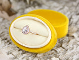 Buttercup Velvet Ring Box