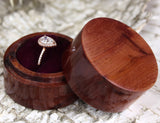 Cedar Wood Circle Ring Box