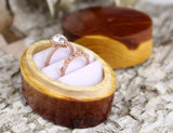 Cedar Wood Oval Ring Box
