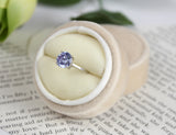 New Years Eve Circle Velvet Ring Box