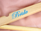 Set of 4 Personalized Wedding Hangers