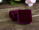 Handmade Ring Box in Burgundy