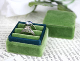 Vintage Green Engagement Ring Box