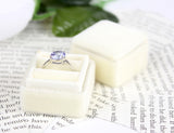 Ring Box, Vintage style in Buttercream Velvet Perfect For Weddings, Velvet and Ribbon Handmade ST