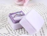 Orchid Velvet Ring Box With  Seamless Top for Wedding Ceremonies, Proposals and Heirloom Storage