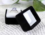 Vintage Ring Box in Tuxedo Black