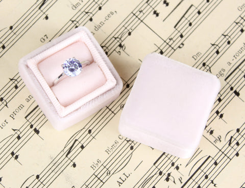 Wedding Ring Box in Blush