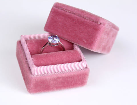 Old Rose Engagement Ring Box