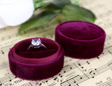 Burgundy Wedding Ring Box