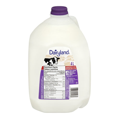 Blackwell/Dairyland 4l 1% Milk
